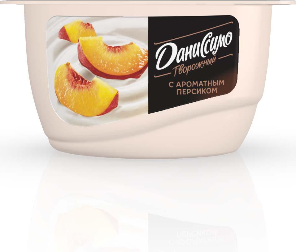Даниссимо Продукт творожный Персик 5,4%, 130 г danone продукт творожный персик абрикос 3 6% 170 г