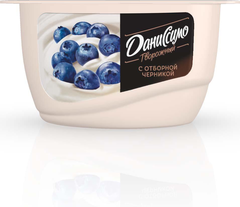 Даниссимо Продукт творожный Черника 5,5%, 130 г даниссимо продукт творожный ягодное мороженое 5 6