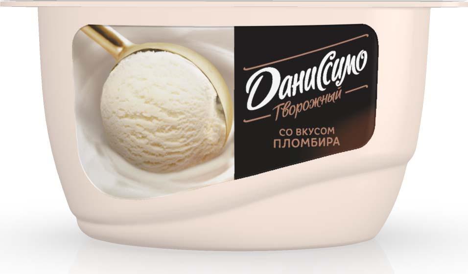 Даниссимо Продукт творожный Пломбир 5,4%, 130 г даниссимо продукт творожный ягодное мороженое 5 6