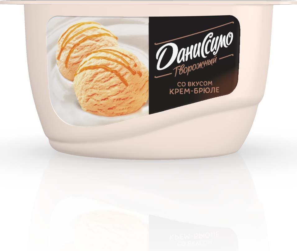 Даниссимо Продукт творожный мороженое Крем-брюле 5,5%, 130 г даниссимо продукт творожный ягодное мороженое 5 6