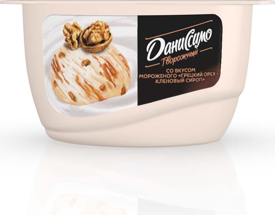 Даниссимо творожный со вкусом мороженого Грецкий орех с кленовым сиропом 5,9%, 130 г даниссимо продукт творожный ягодное мороженое 5 6