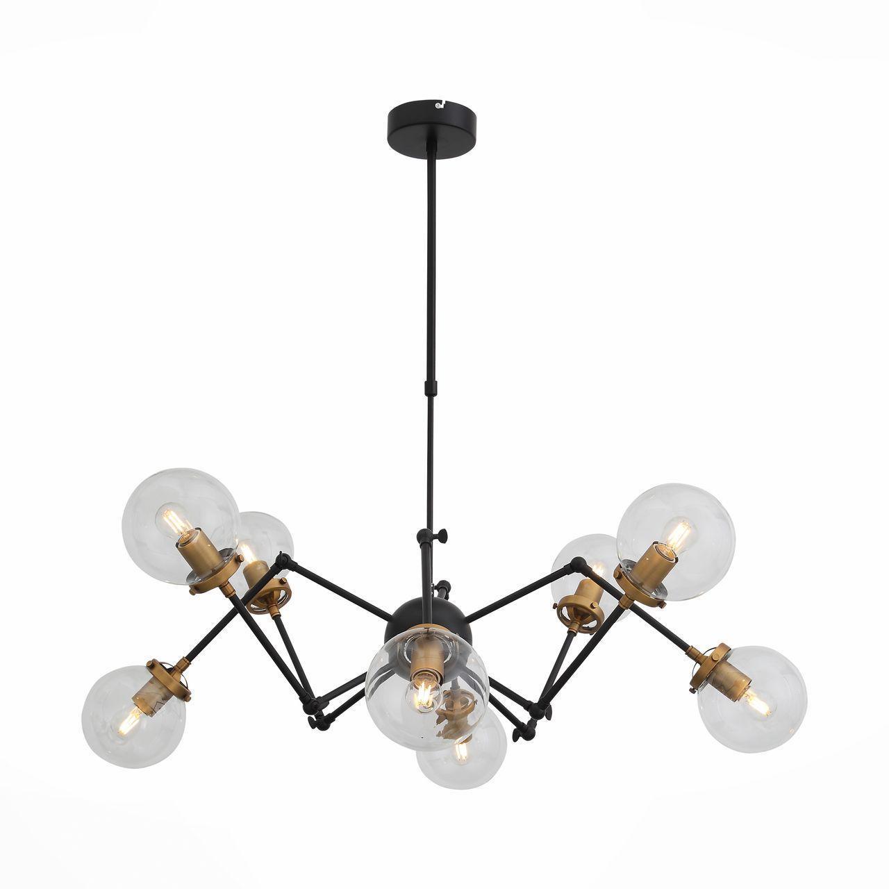 Потолочный светильник ST Luce SL234.402.08, черный подвесной светильник st luce varieta sl234 403 01