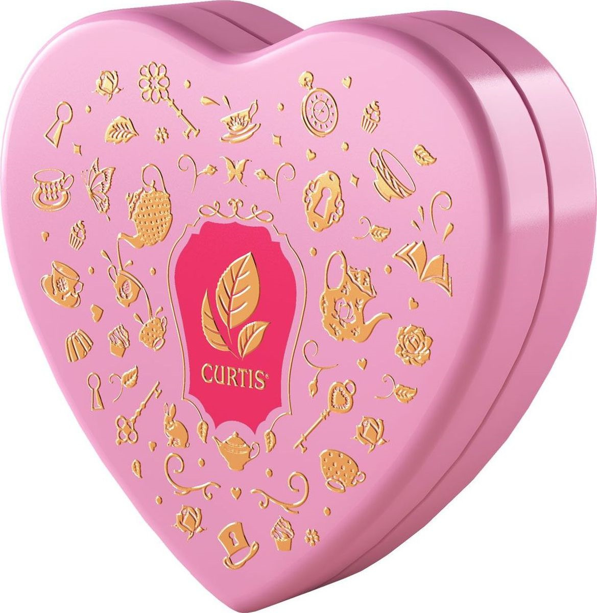 Чай листовой Curtis Wonderland Collection Strawberry & Cream, ароматизированный, цвет коробки розовый, 40 г цена 2017
