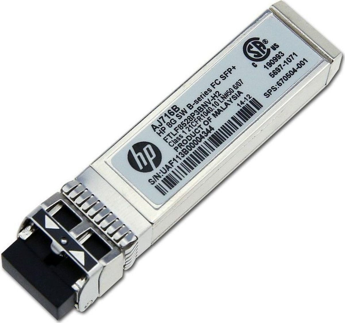 лучшая цена Трансивер HPE 8Gb Short Wave B-Series SFP+ 1pack (AJ716B)