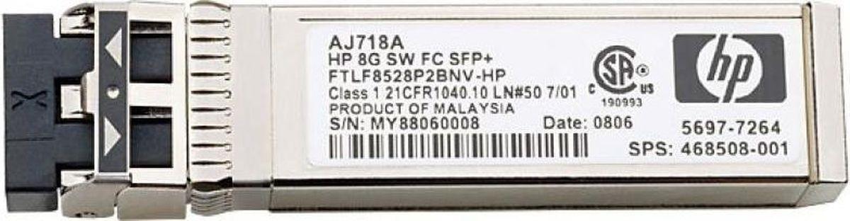 Трансивер HPE 8Gb Short Wave FC SFP+ 1pack (AJ718A) трансивер hp 8gb short wave transceiver kit 4 pk c8r23a c8r23a