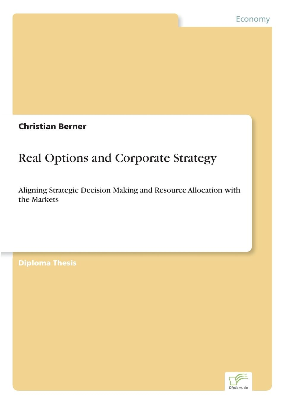 Christian Berner Real Options and Corporate Strategy v jones rory the executive guide to boosting cash flow and shareholder value the profit pool approach