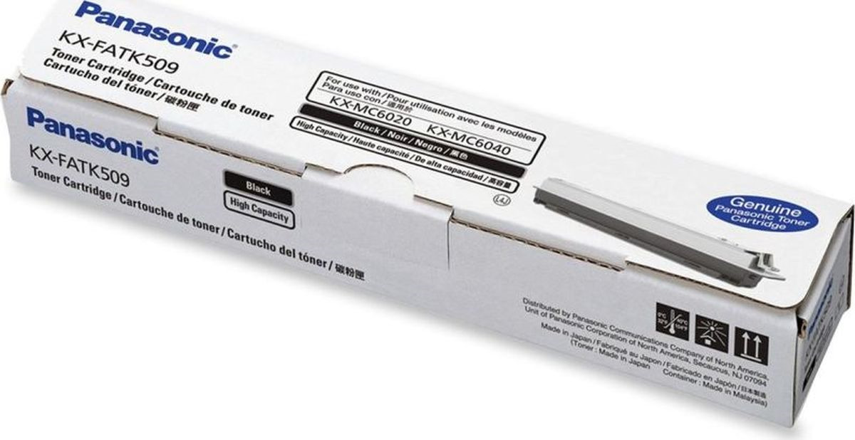 Картридж Panasonic KX-FATK509A KX-FATK509A7, черный, для лазерного принтера