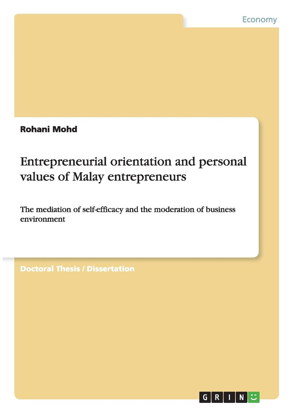 Rohani Mohd Entrepreneurial orientation and personal values of Malay entrepreneurs entrepreneurial orientations of rural women