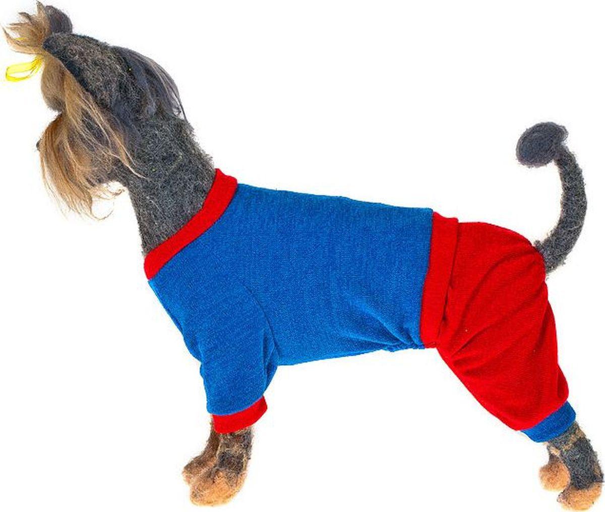 Свитер для собак Happy Puppy Шарли, унисекс, цвет:корона, красный. Размер XL
