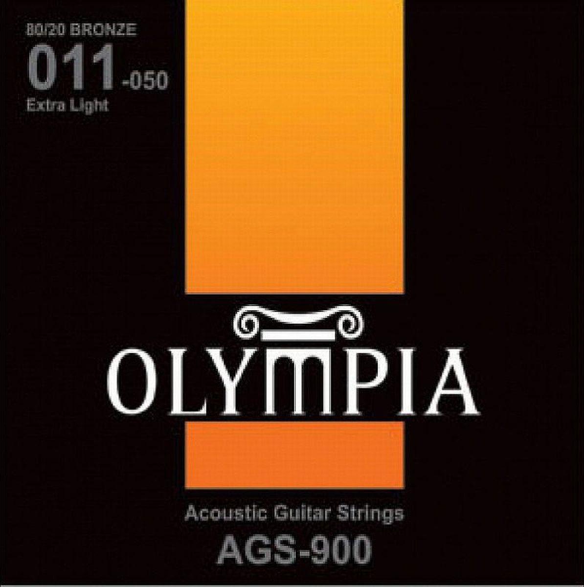 Струны для акустической гитары Olympia Bronze (11-15-23w-30-39-50), AGS900 струны для акустической гитары d addario ez910
