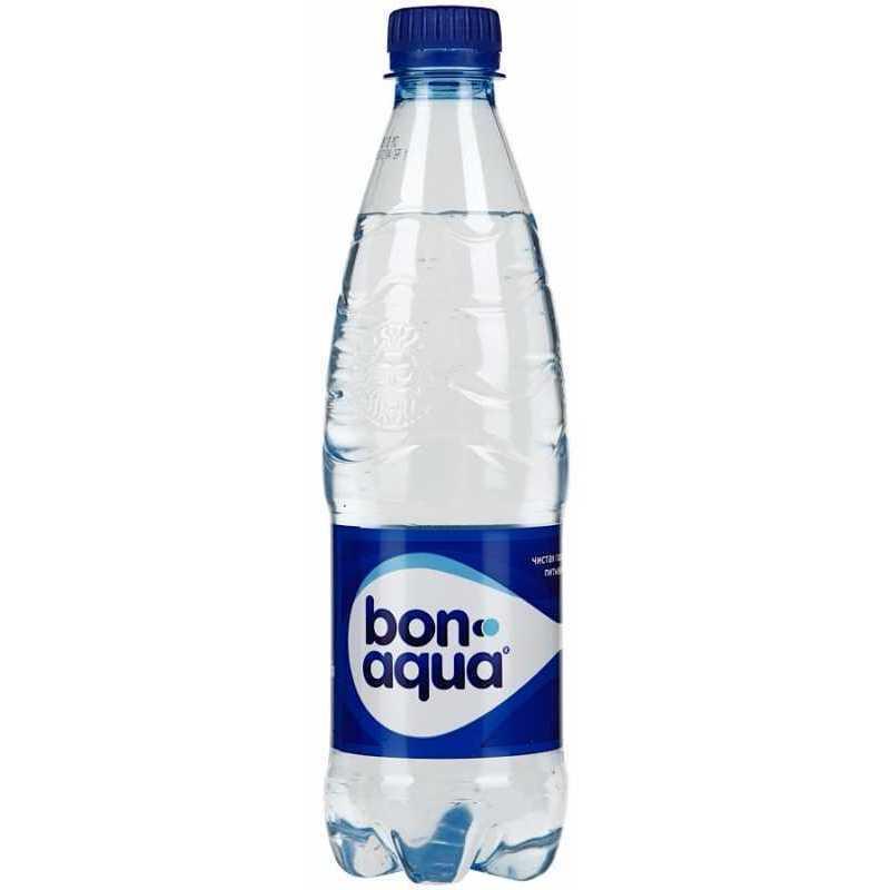 Вода Bonaqua чистая питьевая газированная, 0,5л (упаковка 24шт)