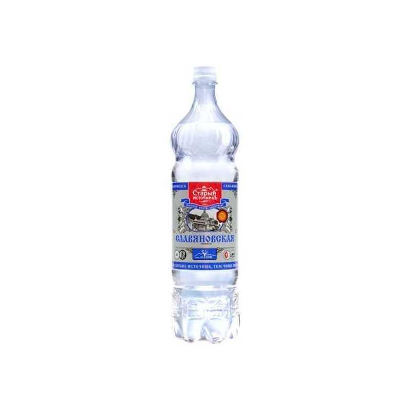 Вода минеральная Славяновская газированная (пэт), 1л (упаковка 12шт)