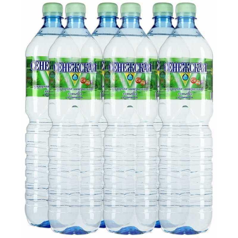 Вода Сенежская негазированная, 1,5л (упаковка 6шт)
