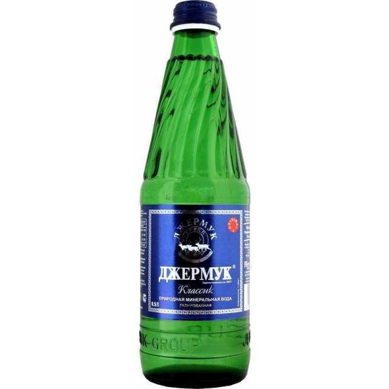 Минеральная вода Джермук газированная (стекло), 0,5л (упаковка 6шт)