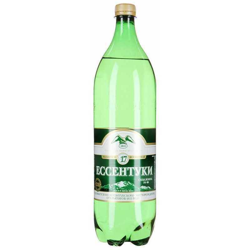 Минеральная вода Ессентуки №17 газированная (пэт), 1,5л (упаковка 6шт)