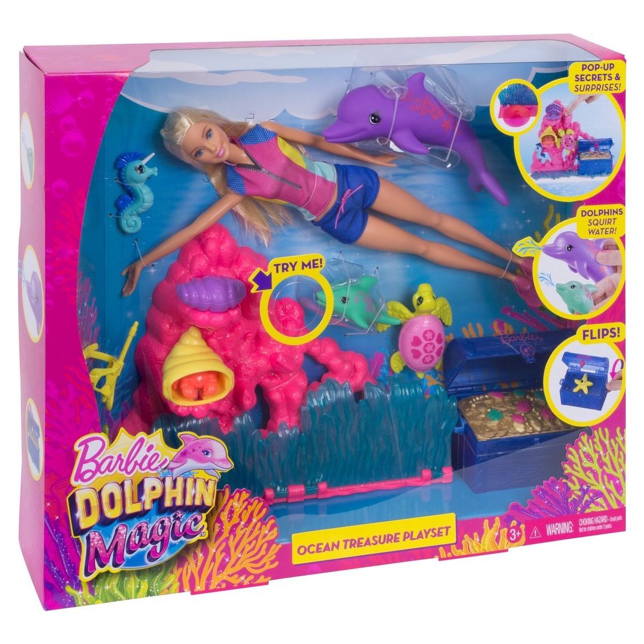 Игровой набор с куклой Barbie 90118 veld co игровой набор с мини куклой русалка и морской конек цвет желтый розовый