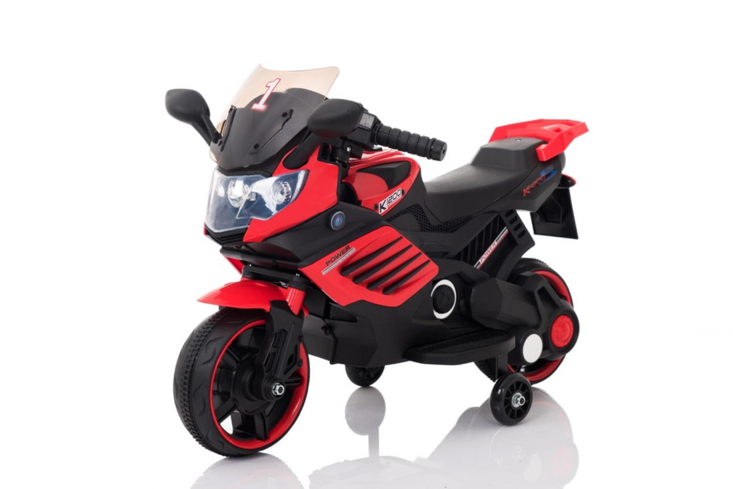 Электромотоцикл Barty Мотобайк М009АА, красный толокар barty bl7602 красный