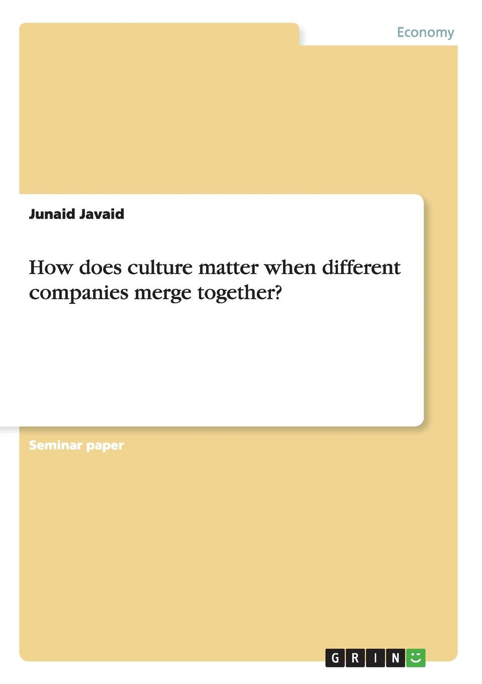 Junaid Javaid How does culture matter when different companies merge together. jordan d lewis trusted partners how companies build mutual trust and win together