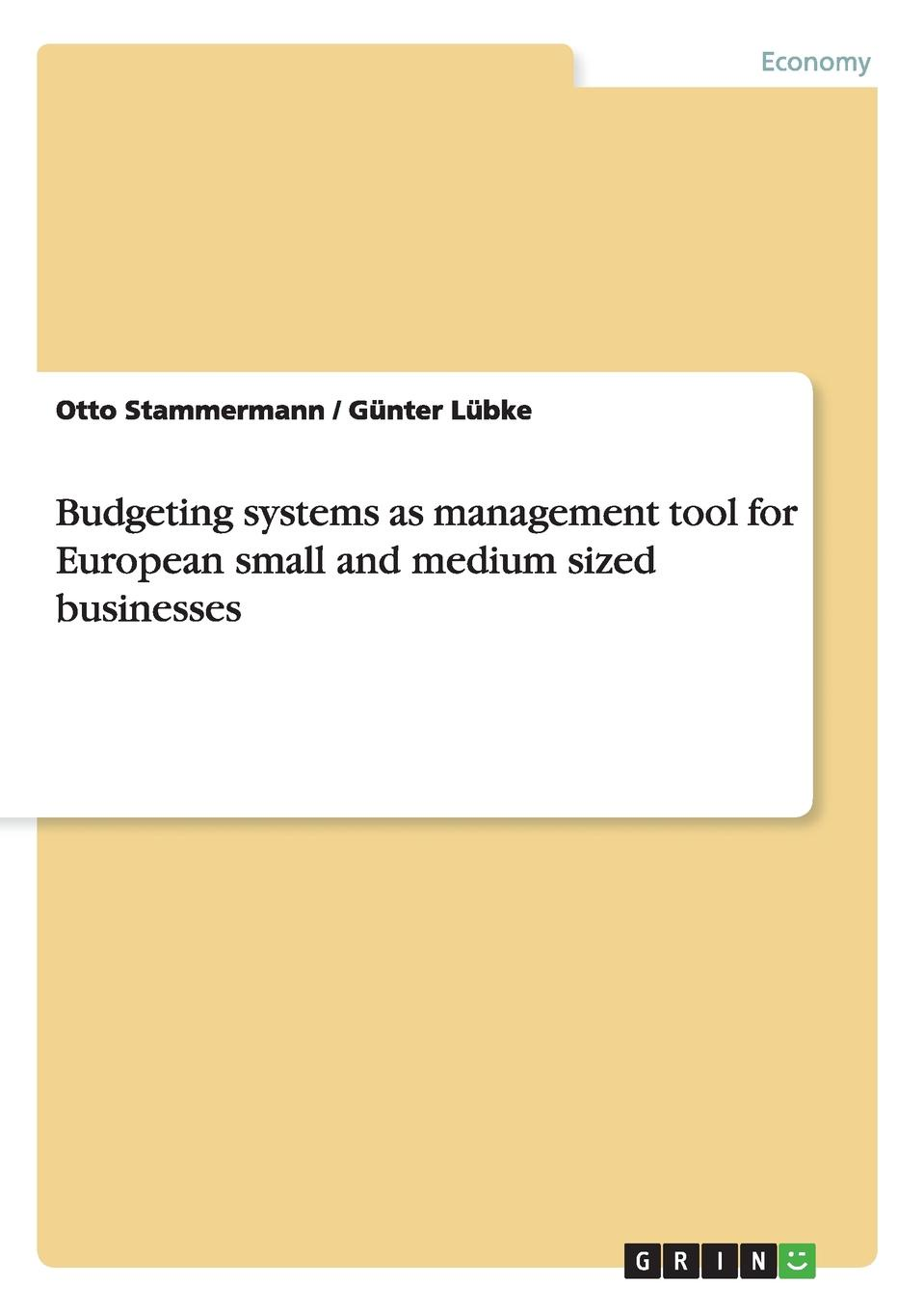 Otto Stammermann, Günter Lübke Budgeting systems as management tool for European small and medium sized businesses цены