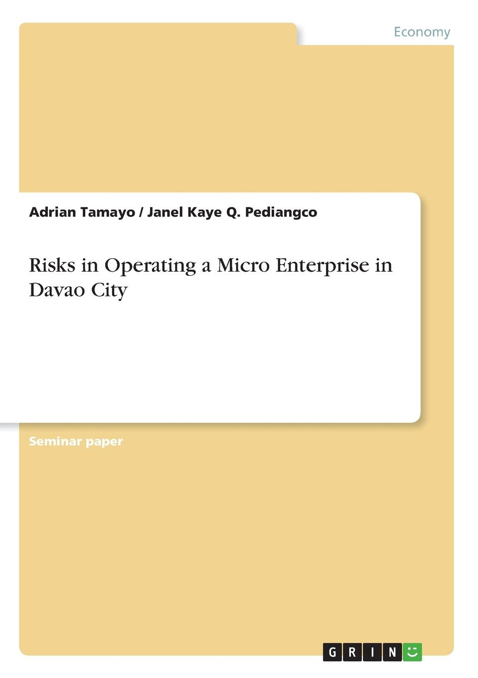 Adrian Tamayo, Janel Kaye Q. Pediangco Risks in Operating a Micro Enterprise in Davao City a micro level analysis of the effects of multiple crises