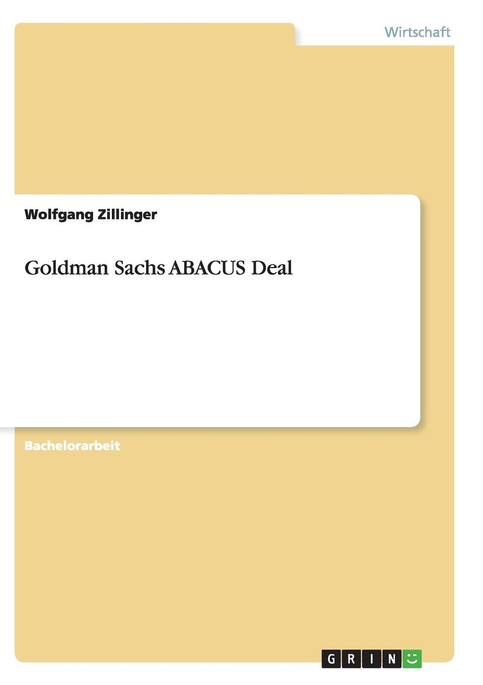 Wolfgang Zillinger Goldman Sachs ABACUS Deal