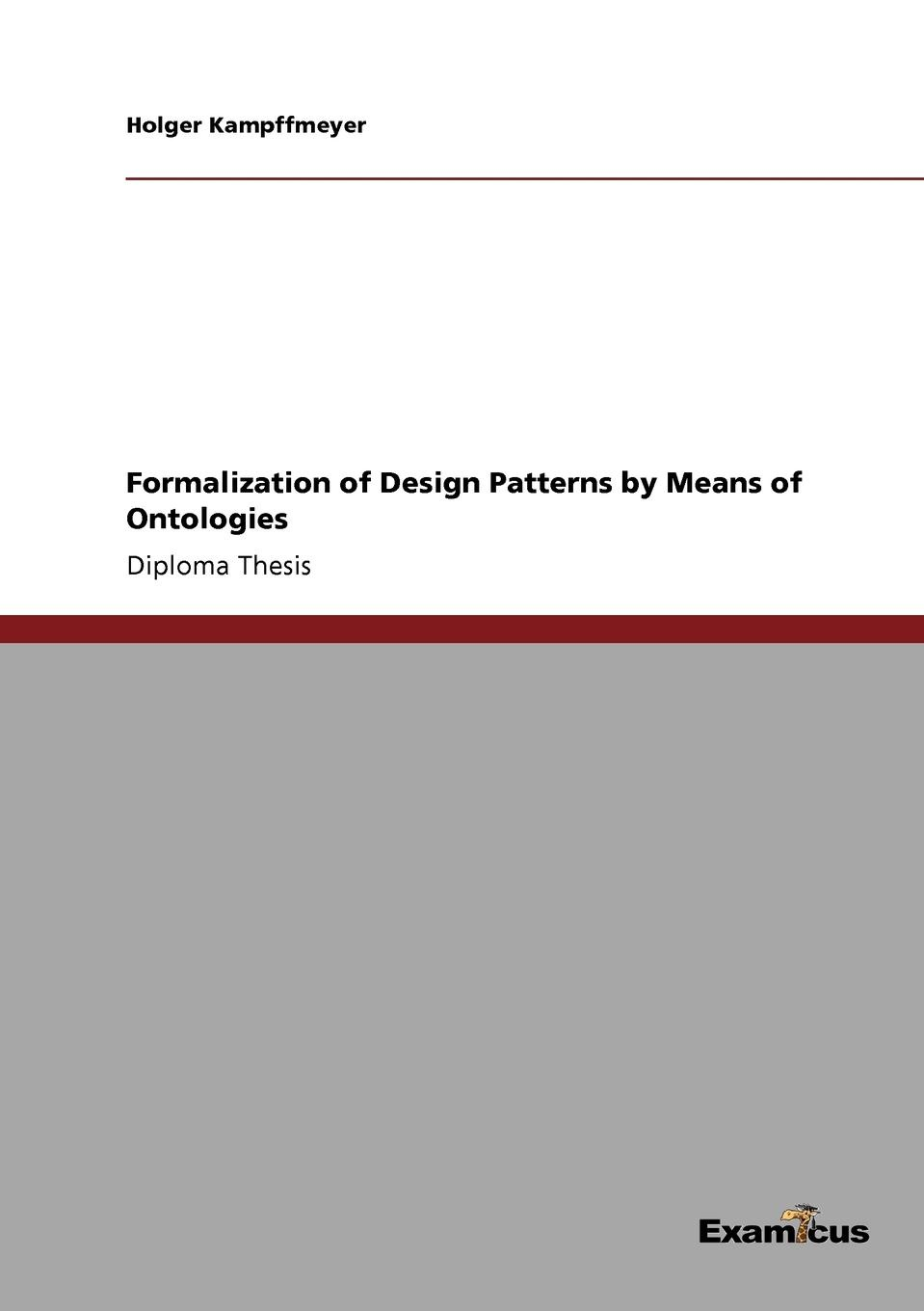 Фото - Holger Kampffmeyer Formalization of Design Patterns by Means of Ontologies concise colour block and circle pattern design men s slippers