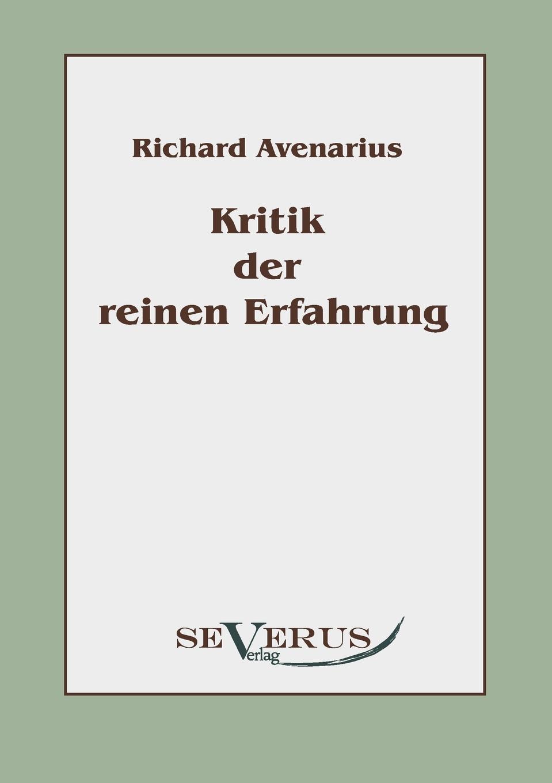 Richard Avenarius Kritik der reinen Erfahrung ferdinand avenarius die weltkarikatur in der volkerverhetzung