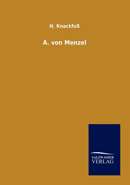 H. Knackfuß A. von Menzel menzel wolfgang denkwurdigkeiten hrsg von k menzel german edition