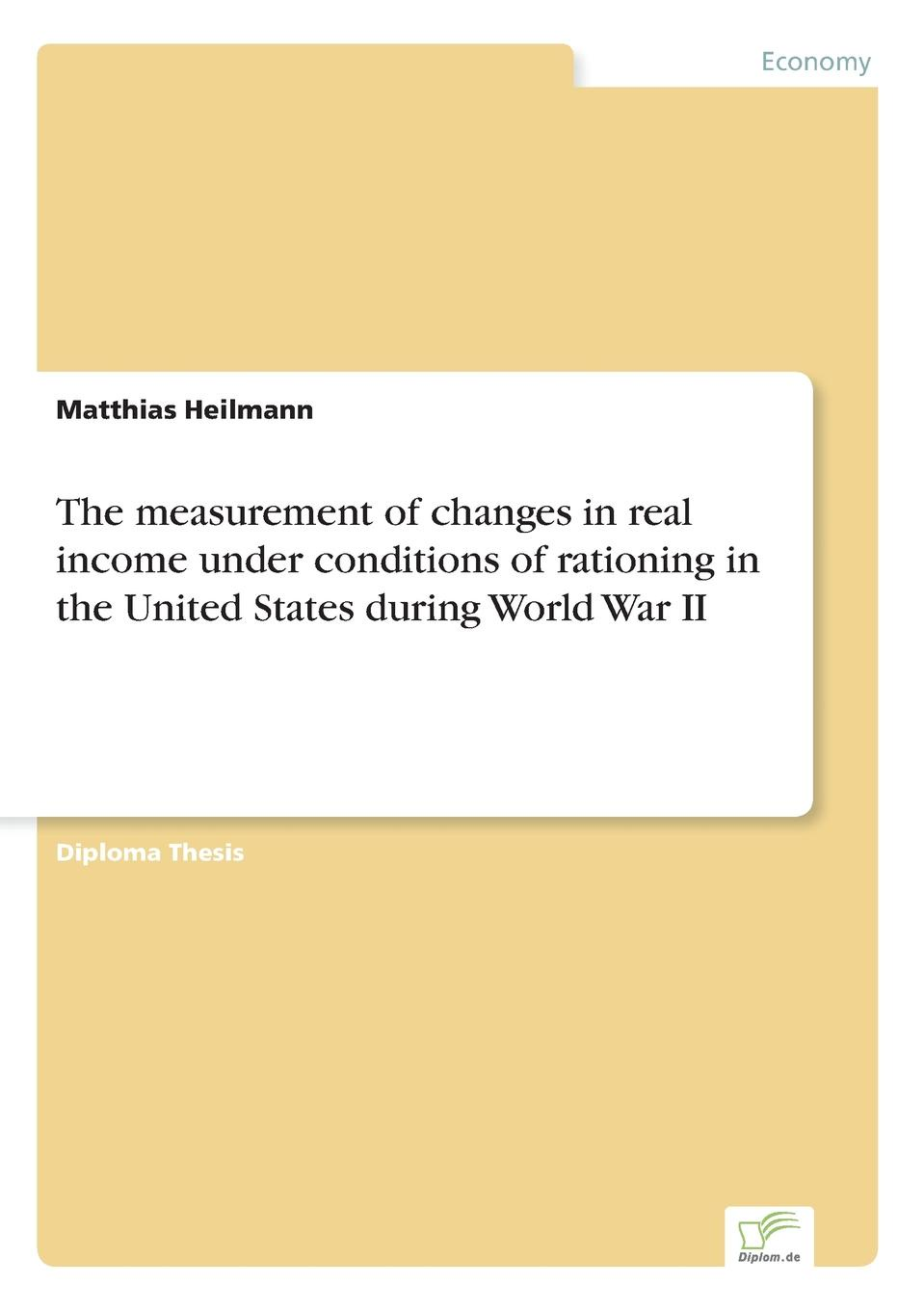 Matthias Heilmann The measurement of changes in real income under conditions of rationing in the United States during World War II free shipping lt1037amj8883 goods in stock and new original