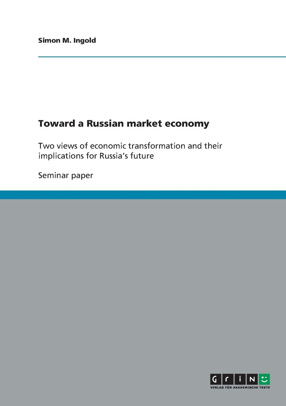 Simon M. Ingold Toward a Russian market economy gender culture and politics in punjab a perspective