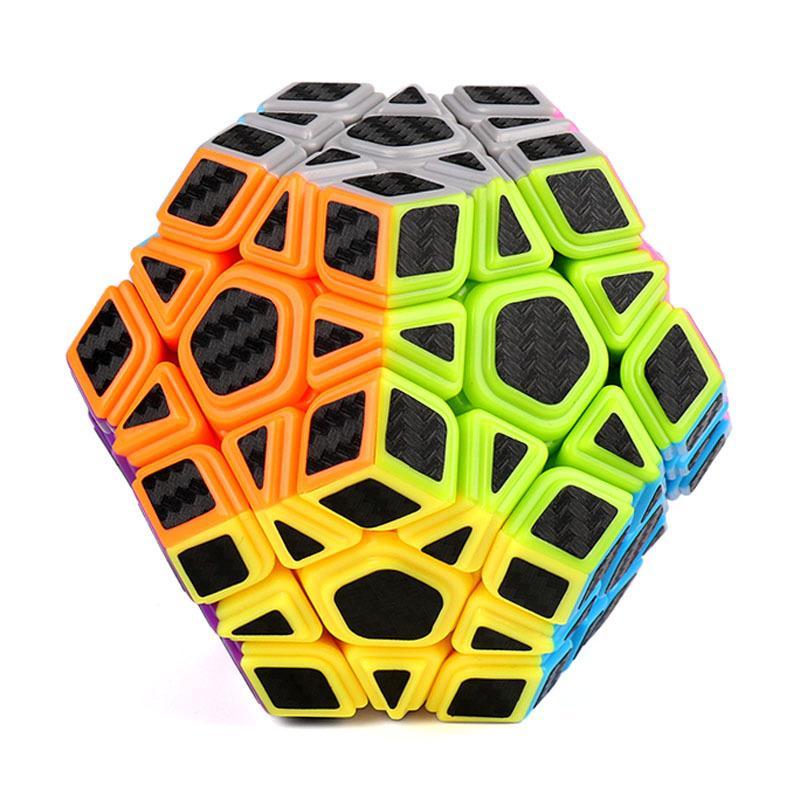 Головоломка MoYu Кубик Рубика Мегамикс MoFang Carbon Fiber JiaoShi Megaminx 3х3 разноцветный 250mmx500mmx0 3mm 100% carbon fiber plate panel sheet 3k plain weave glossy