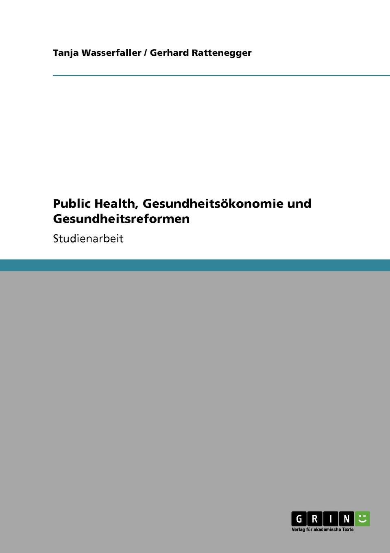 Public Health, Gesundheitsokonomie und Gesundheitsreformen Studienarbeit aus dem Jahr 2008 im Fachbereich BWL - Sonstiges, Note...