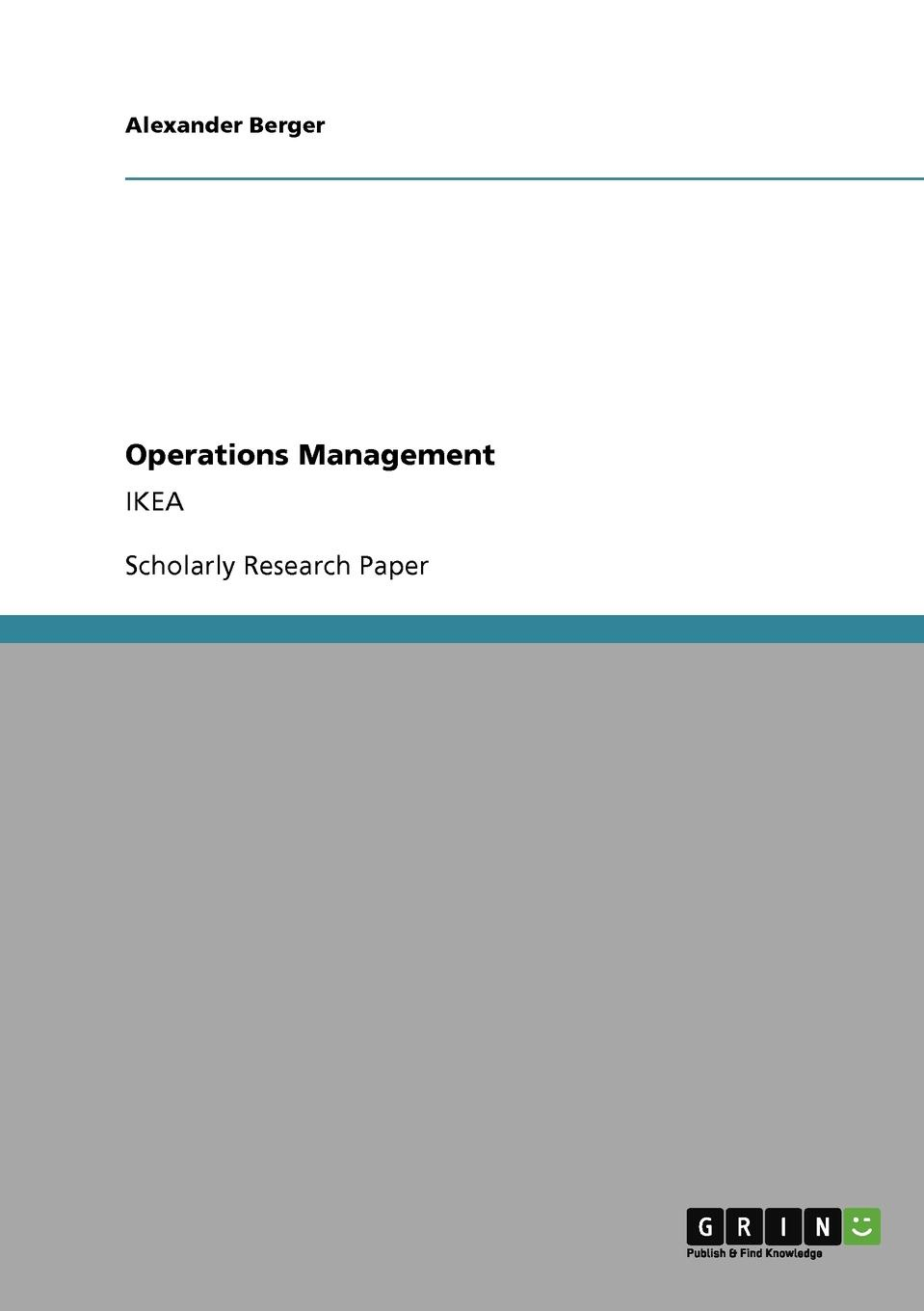 Alexander Berger Operations Management