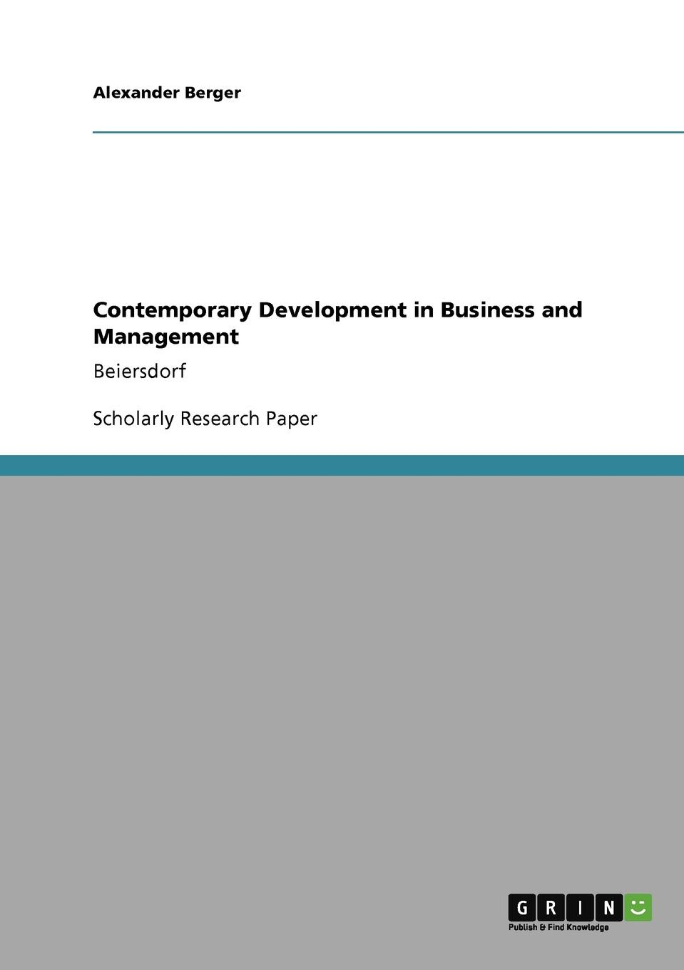 Фото - Alexander Berger Contemporary Development in Business and Management agent based snort in distributed environment