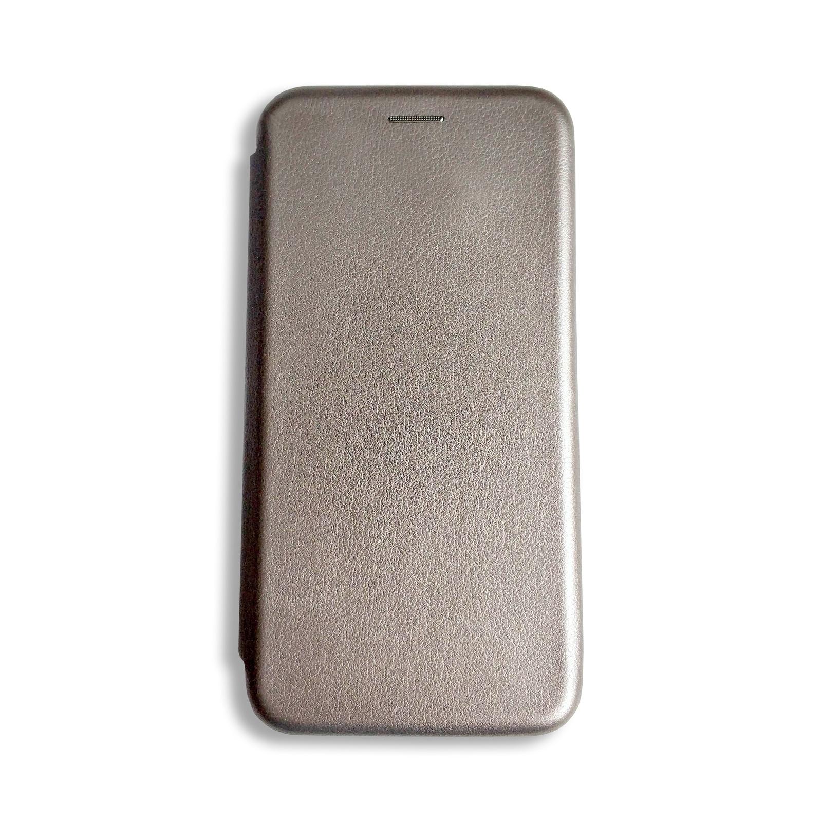 Чехол для сотового телефона книжка для Huawei Honor 8C, серый металлик