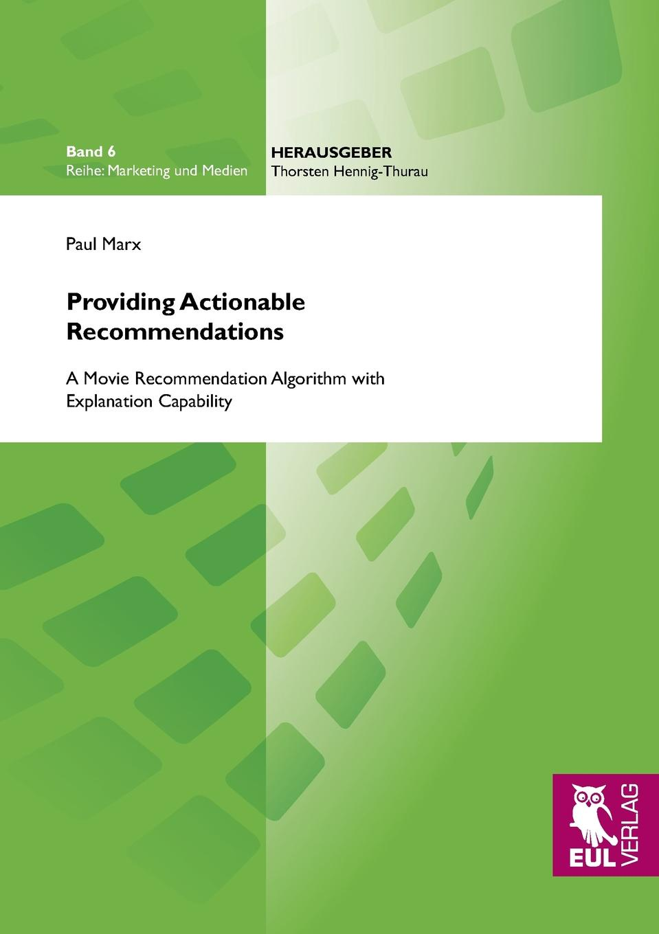 Paul Marx Providing Actionable Recommendations users online