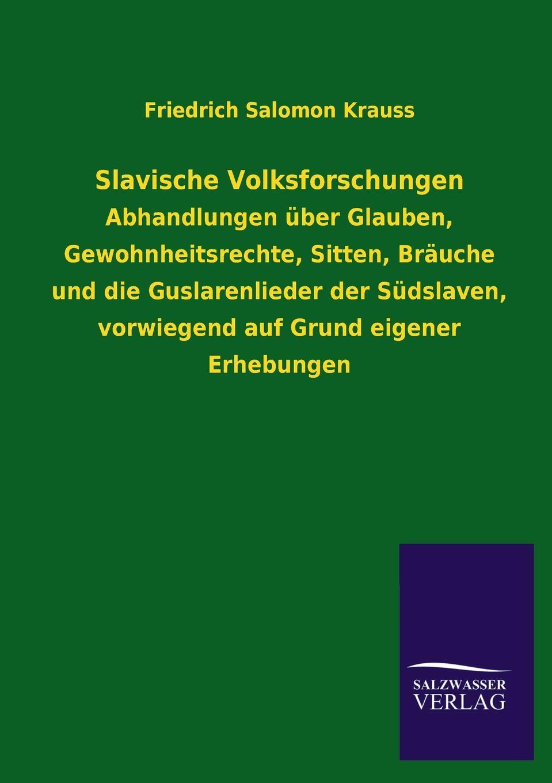 Friedrich Salomon Krauss Slavische Volksforschungen krauss n forest dark