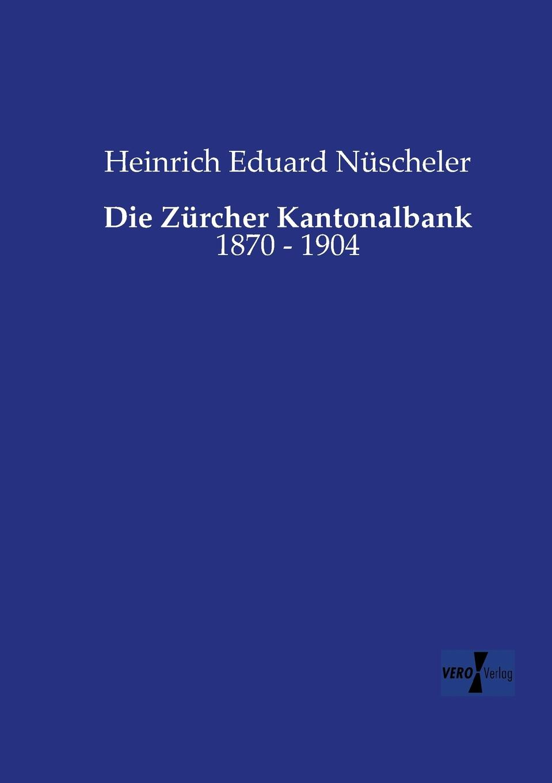 """Die Zurcher Kantonalbank """"Vorliegende Arbeit will eine systematische Darstellung..."""
