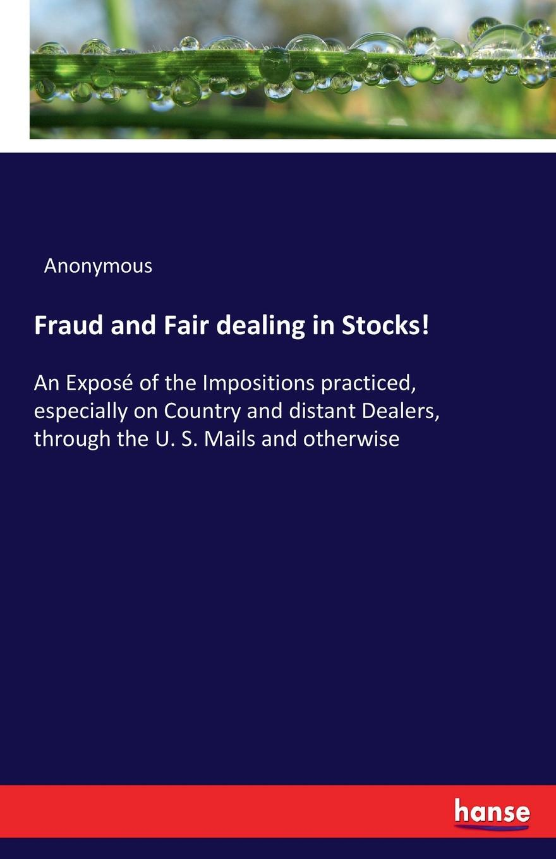 M. l'abbé Trochon Fraud and Fair dealing in Stocks.