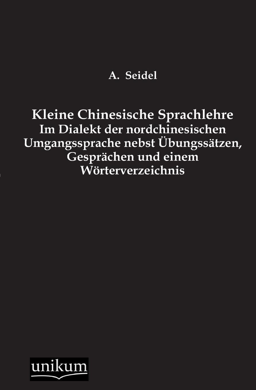 A. Seidel Kleine Chinesische Sprachlehre недорого