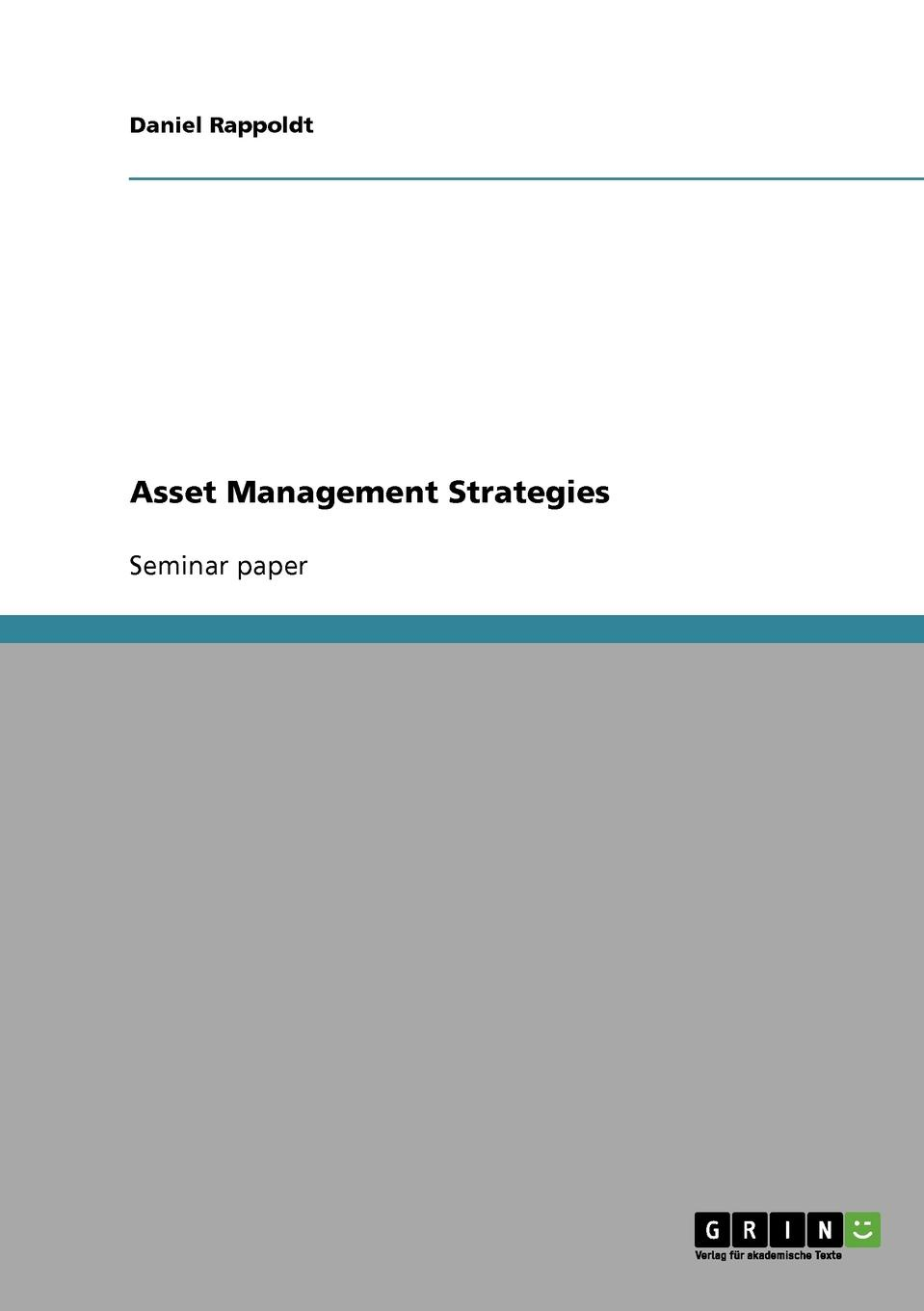 Daniel Rappoldt Asset Management Strategies david parker global real estate investment trusts people process and management