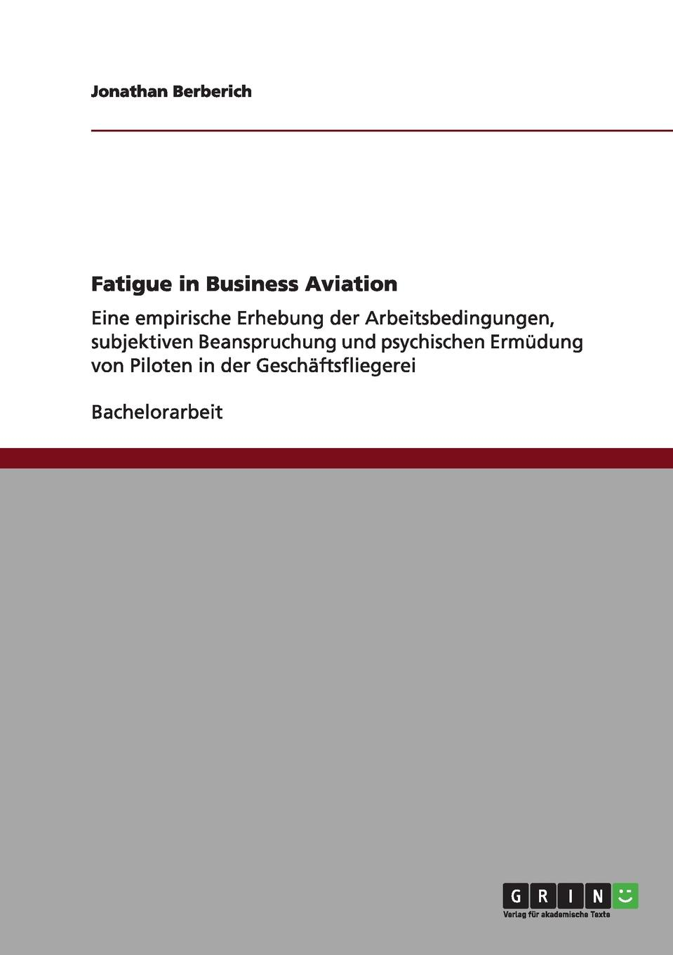 Фото - Jonathan Berberich Fatigue in Business Aviation agent based snort in distributed environment