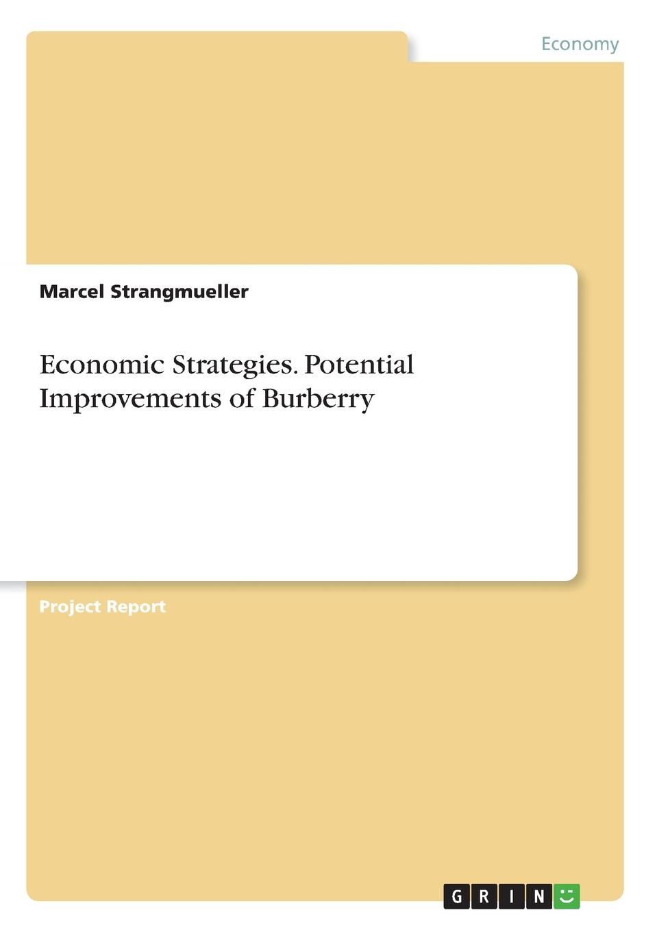 Marcel Strangmueller Economic Strategies. Potential Improvements of Burberry фрэнсис бэкон the works of francis bacon volume 13