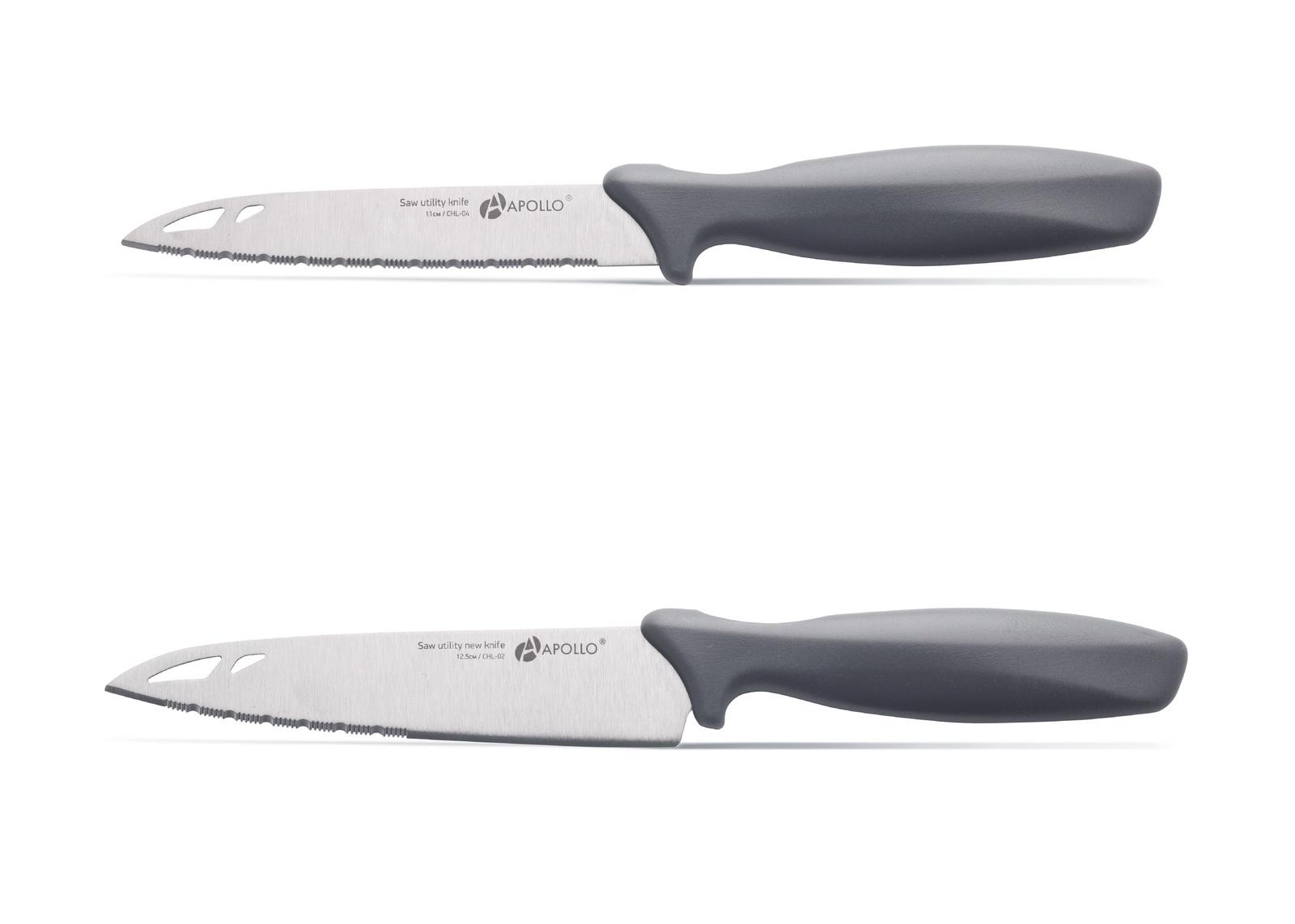 Набор кухонных ножей Apollo CHL-0402, серый