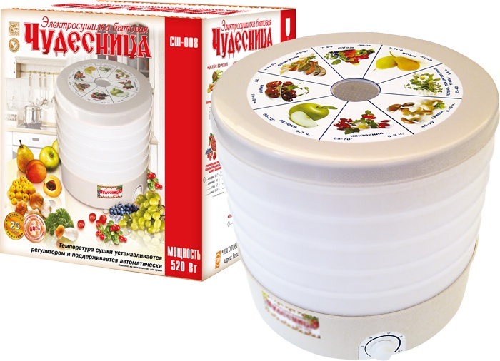 Сушилка для салата/овощей/фруктов/ягод Чудесница СШ-008