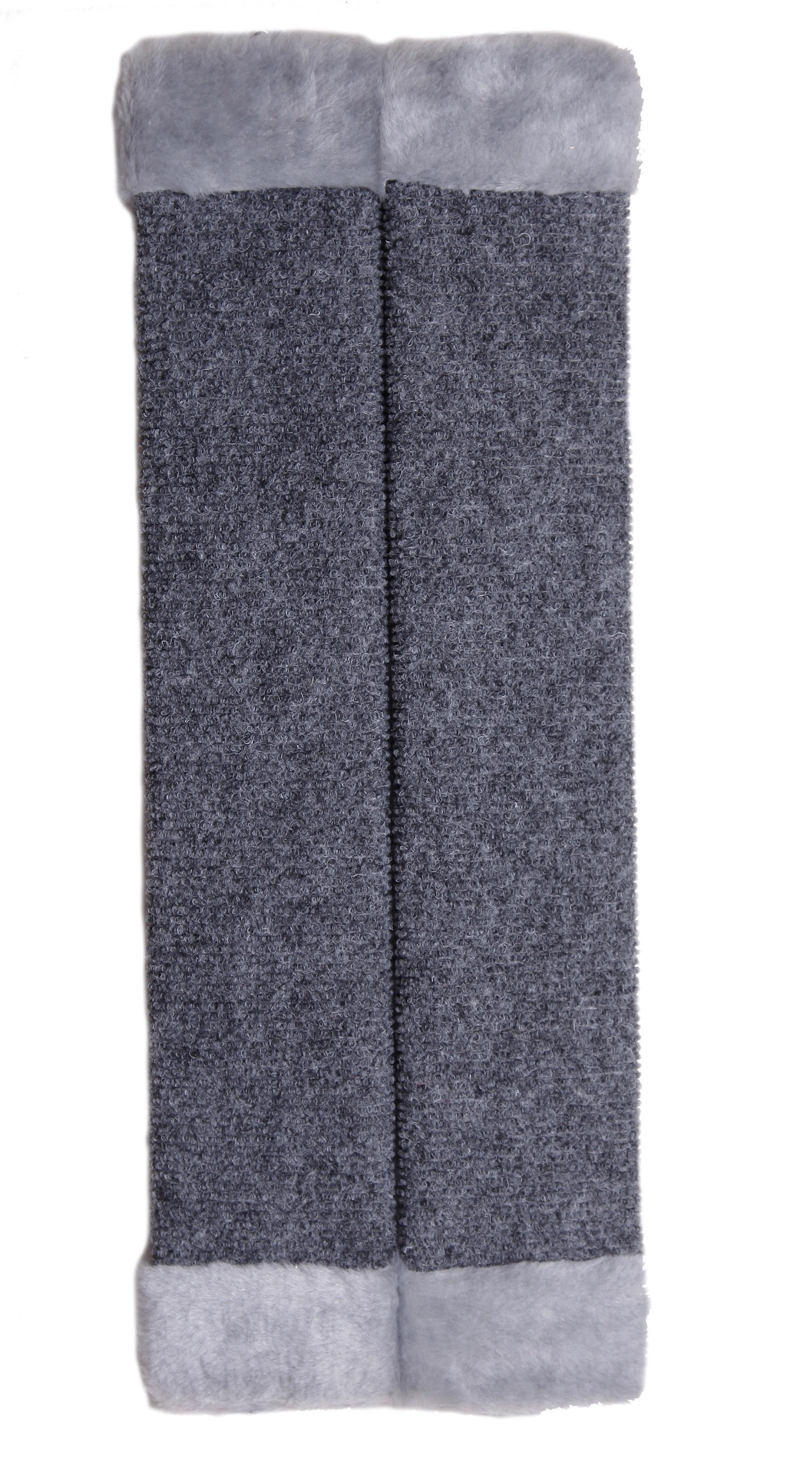 Когтеточка JOY ковровая угловая, серый