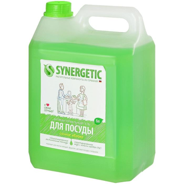 Универсальное чистящее средство Synergetic Яблоко, 5 л средство для мытья посуды synergetic концентрированное лимон 0 5 л