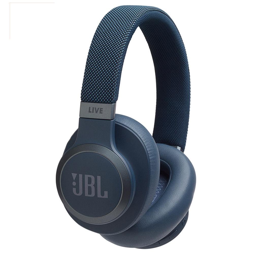 Bluetooth-гарнитура JBL LIVE 650BTNC, синий гарнитура накладные jbl live 650btnc 1 2м синий беспроводные bluetooth в ушной раковине