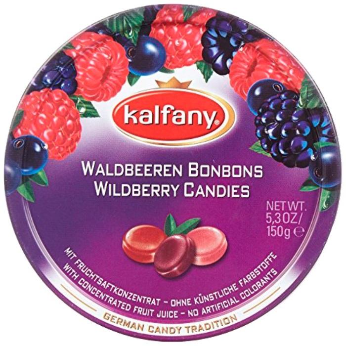 Леденцы Kalfany (Германия) со вкусом лесных ягод (малина, ежевика, черника) 150г