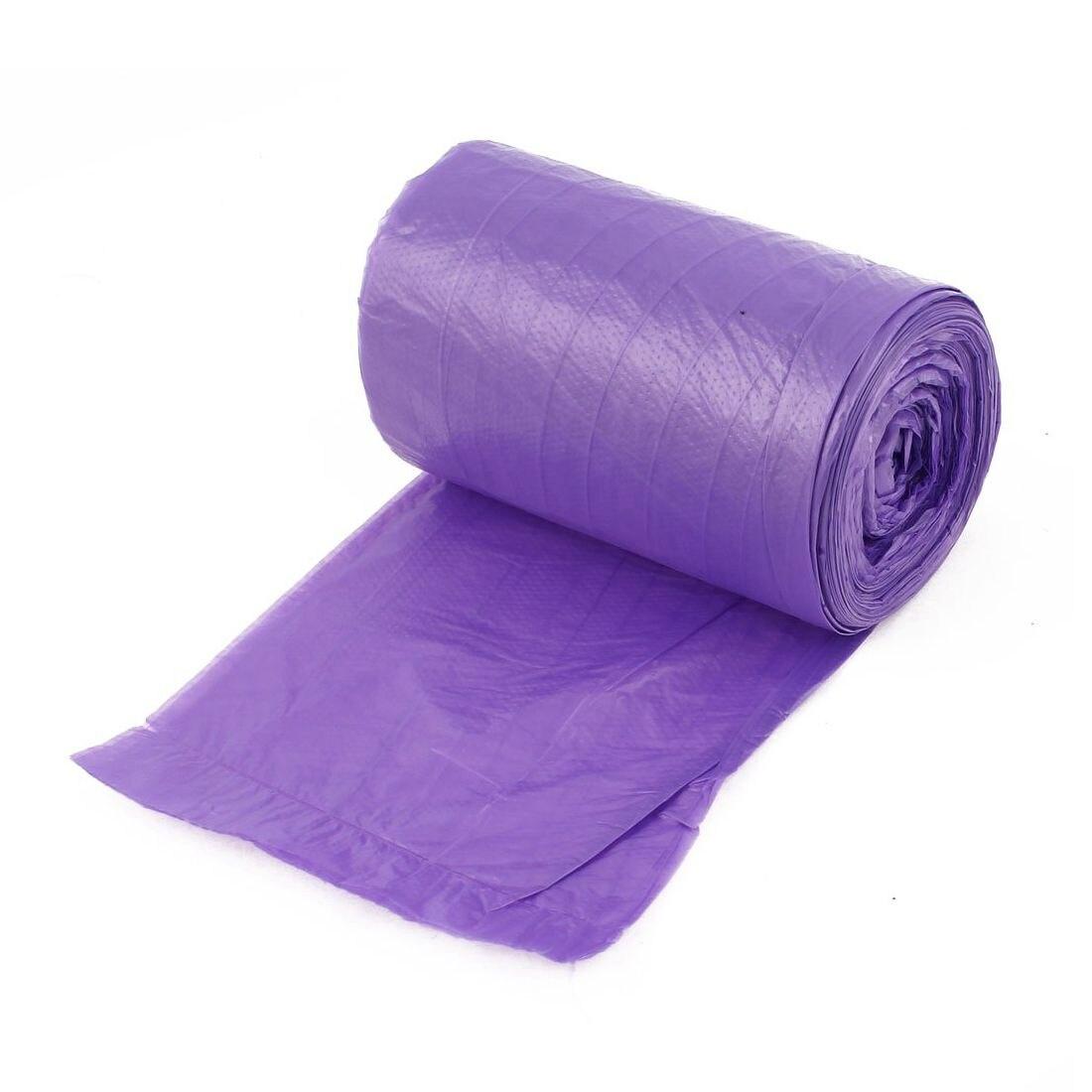 Мешки для мусора Капио в рулоне ПВД 120л 70х110 фиолетовые усиленные 10 штук, фиолетовый